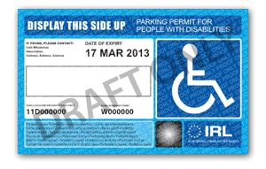 Parking Permit - Disabled Drivers Association of Ireland
